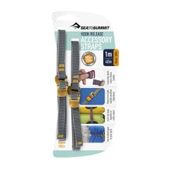 Стяжной ремень Sea To Summit Accessory Strap With Hook Buckle Grey, 1 м x 10 мм (STS ATDASH101.0)