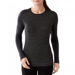 Термофутболка женская Smartwool Merino 250 Baselayer Pattern Crew Charcoal Heather, р.M (SW SS226.010-M)