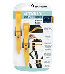 Набор стяжек Sea to Summit Stretch-Loc 12 12mm x 300mm 2 Pack, Yellow (STS ASLSTRP12X300YW)