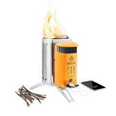Горелка на дровах Biolite - CampStove 2 + FlexLight Silver/Orange (BLT CSC1001)