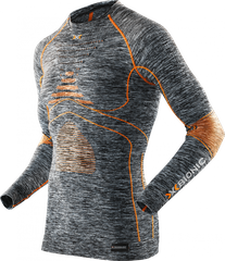 Термофутболка мужская X-Bionic - Accumulator Evo Men Melange Shirt LS Grey Melang/Orange, р.XXL (XB I100664.G372-XXL)