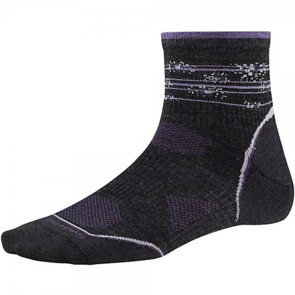Носки женские Smartwool - PhD Outdoor Ultra Light Pattern Mini Charcoal/Desert Purple, р.M (SW SW079.289-M)