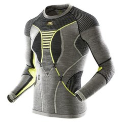 Кофта мужская X-Bionic - Apani Man Shirt LS Black/Gray/Yellow, р.L/XL (XB I100465.B064-L/XL)
