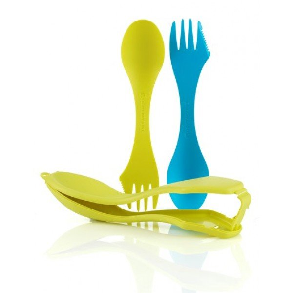 Ложки в чехле Light My Fire - Sporks'n Case 2 Cyan Blue/Lime (LMF 41444313)