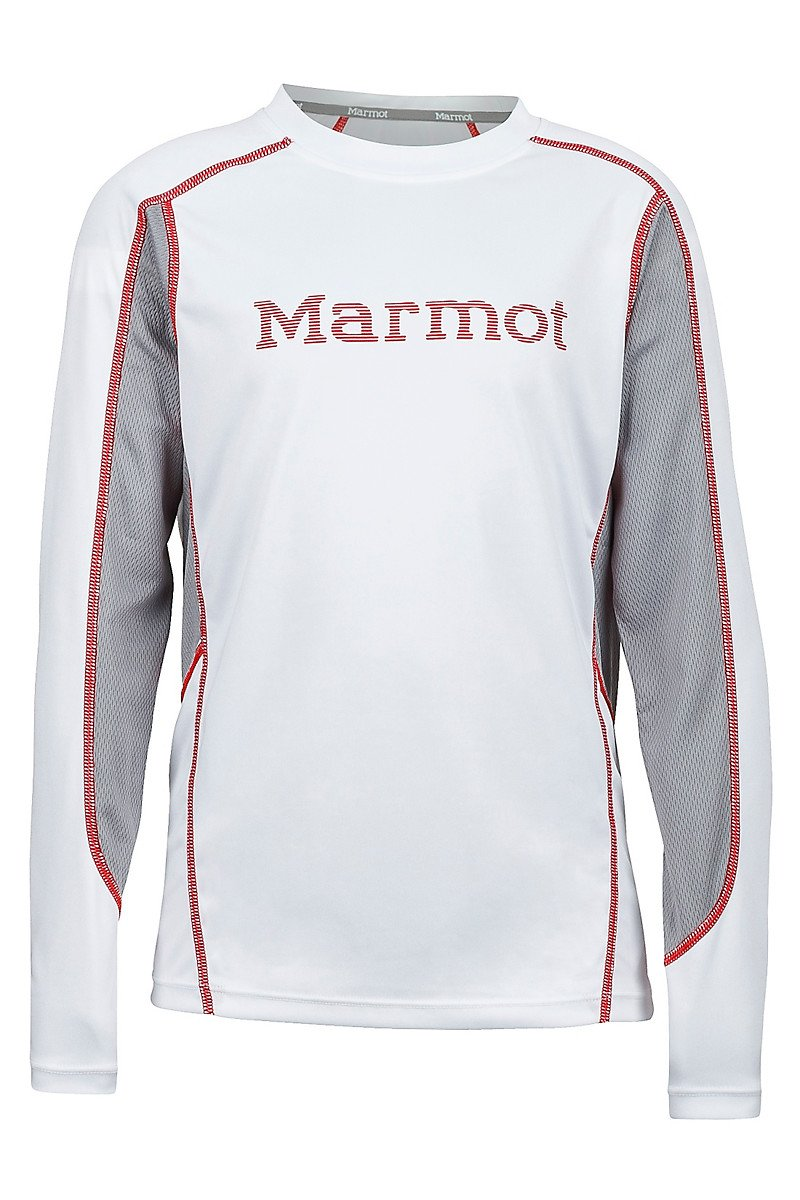 Футболка для мальчика Marmot - Boy's Windridge w / Graphic LS White / Cinder, M (MRT 52560.3783-M)
