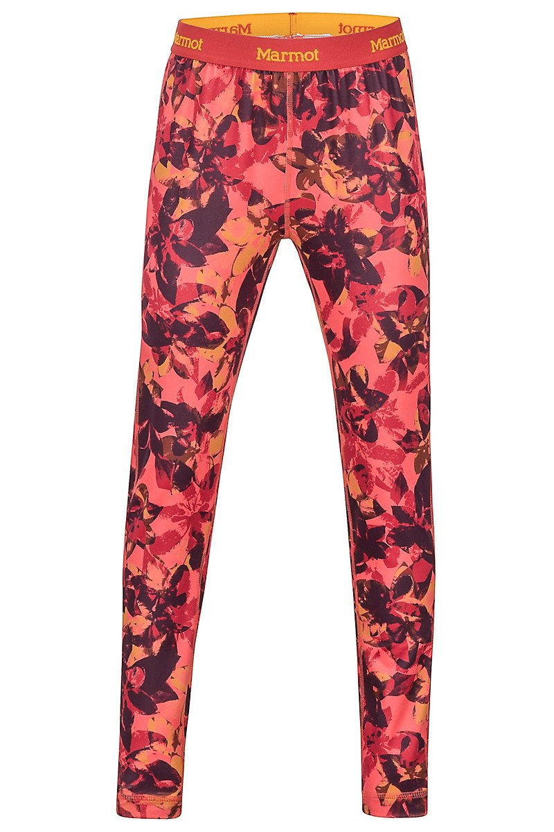 Термоштаны детские Marmot - Girl's Midweight Meghan Tight Living Coral Floral Camo, M (MRT 12360.8714-M)