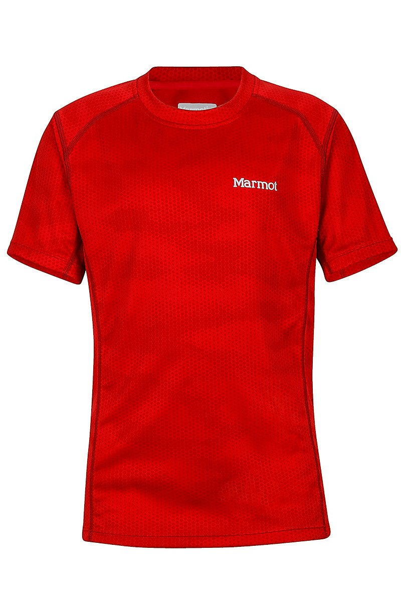 Футболка для мальчика Marmot - Boy's Cyclone SS Team Red Hide, M (MRT 54110.8786-M)
