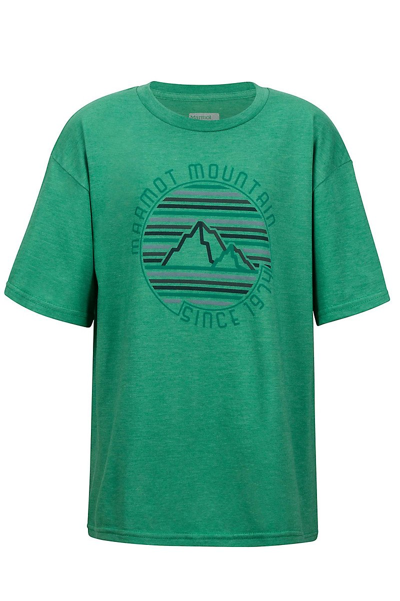 Футболка для мальчика Marmot - Boy's Purview Tee SS Emerald Heather, M (MRT 42440.4768-M)