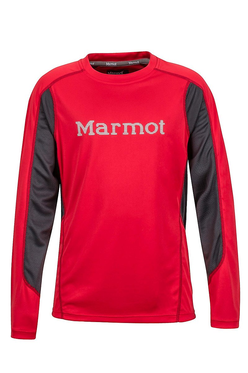 Термофутболка детская Marmot - Boy's Windridge w / Graphic LS Tomato / Slate, M (MRT 50310.6981-M)