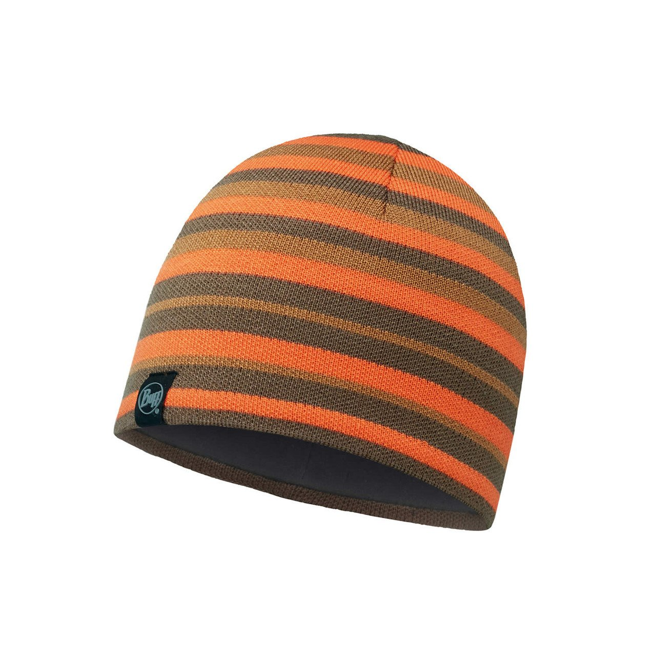 Шапка Buff - Knitted & Polar Hat Laki, Stripes Fossil (BU 113520.311.10.00)